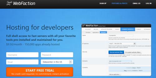 WebFaction web hosting provider