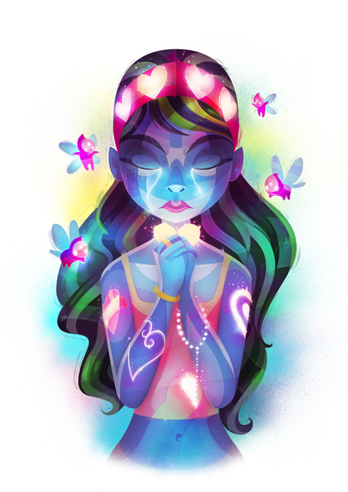 9 of Hearts digital illustration