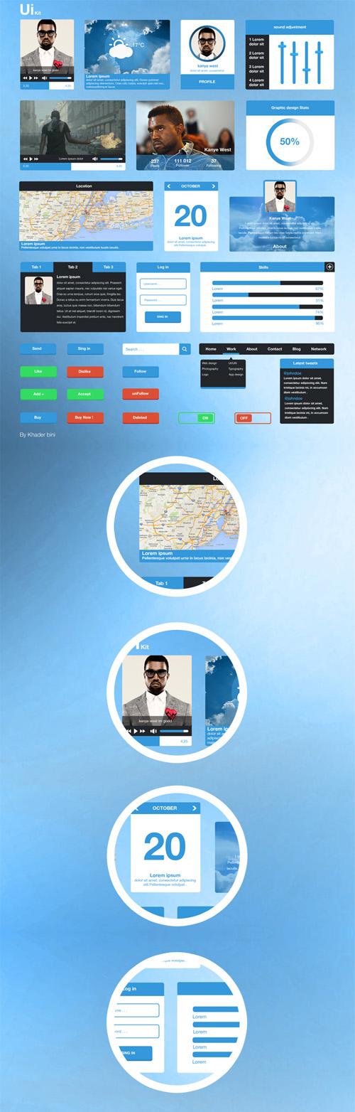 Blue UI Kit
