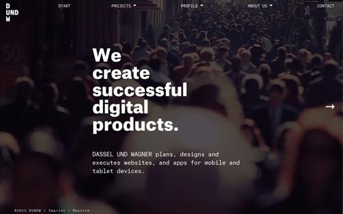 Big typography in website design - 2