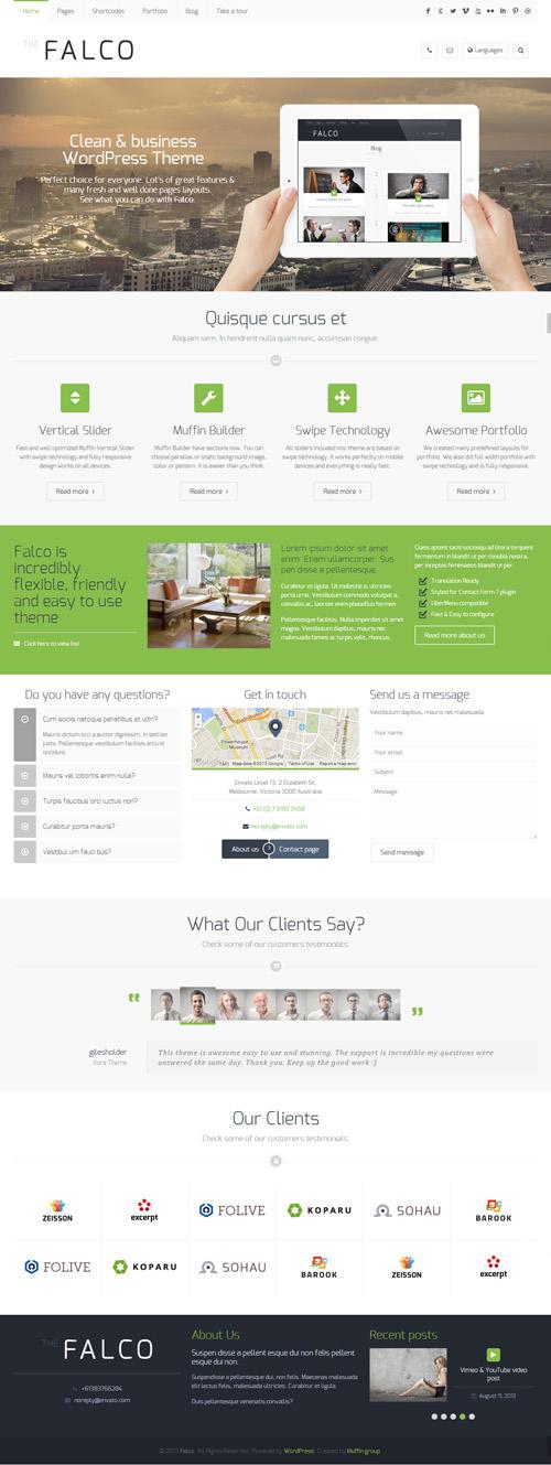 Falco – Responsive Multi-Purpose WordPress Theme