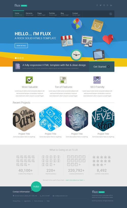 Flux – Flat Corporate WordPress Theme