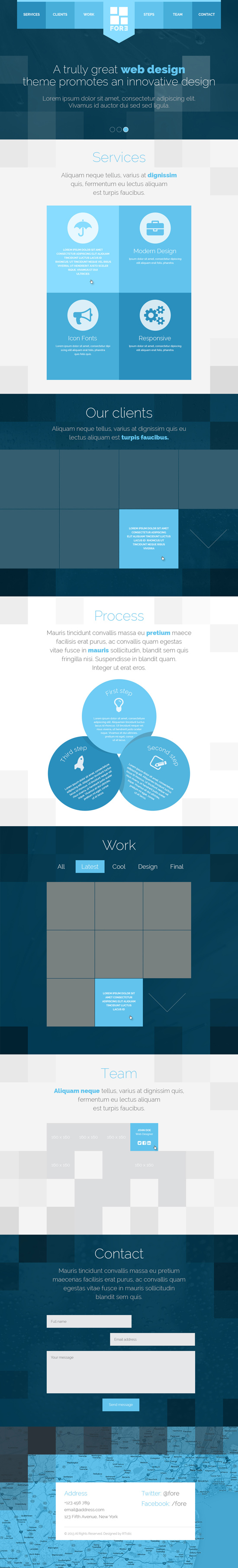 Fore WP - responsive retina-ready one-page theme