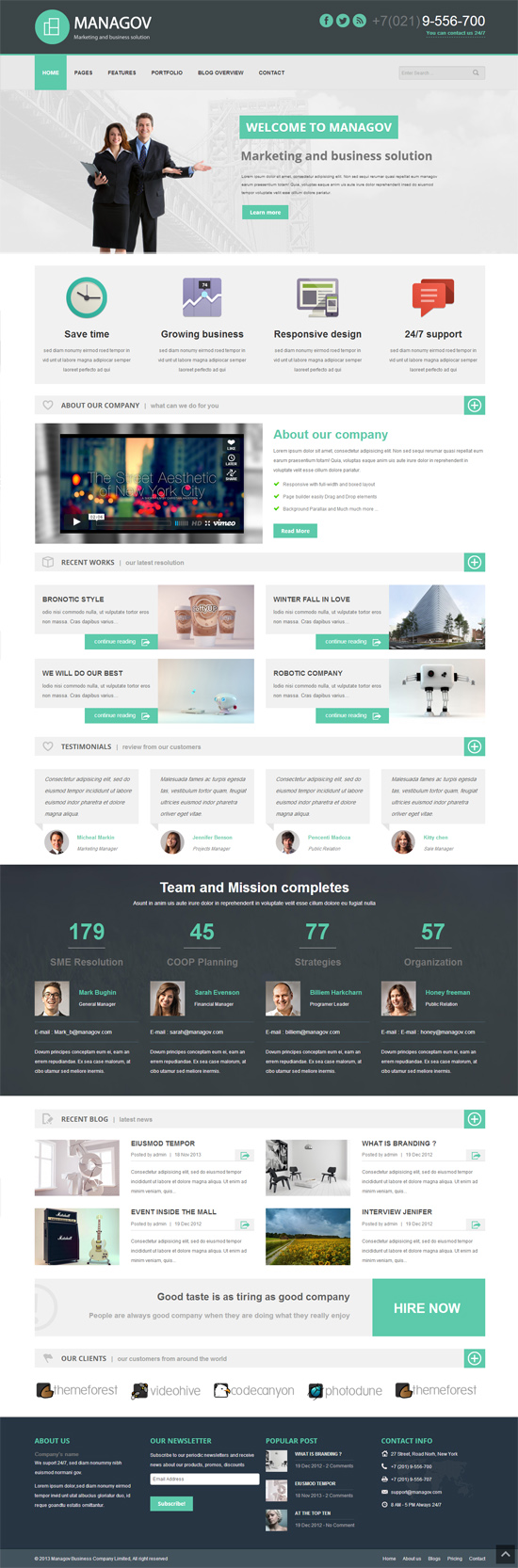 Managov Multi-Purpose WordPress Theme