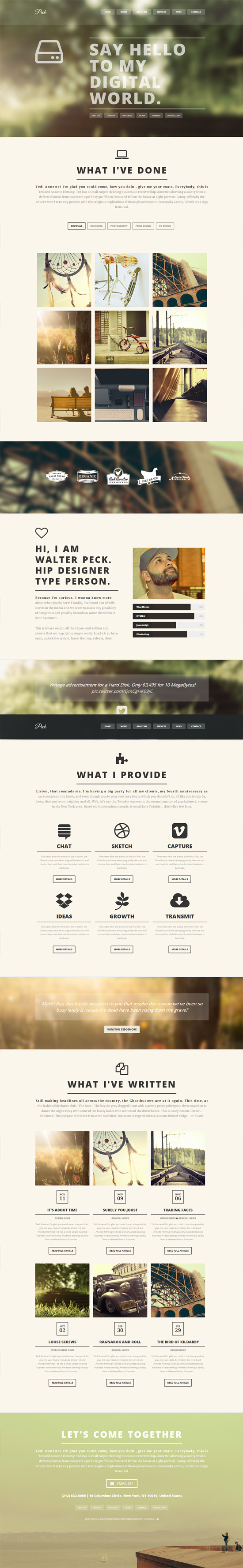 PECK - Creative One Page WordPress Theme