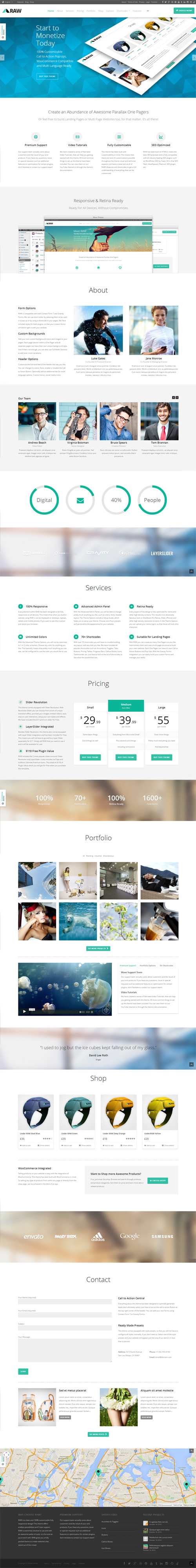 RAW - One Page Multi-Purpose WordPress Theme