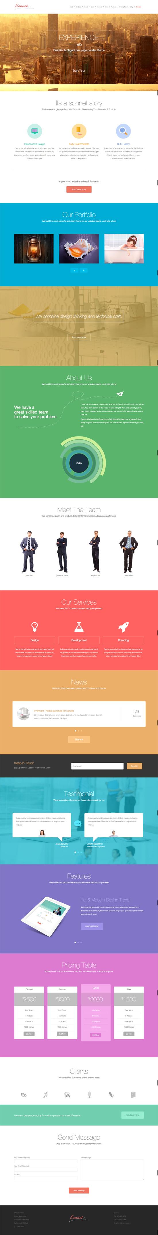 Sonnet - One Page Parallax Multipurpose Portfolio
