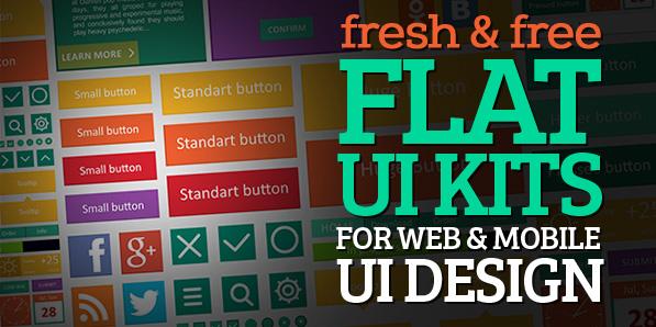 15 Fresh Free Flat UI Kits for Web & Mobile UI Design