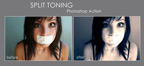 Split Toning Action