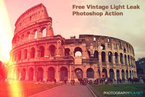 Vintage Light Leak Photoshop Actions