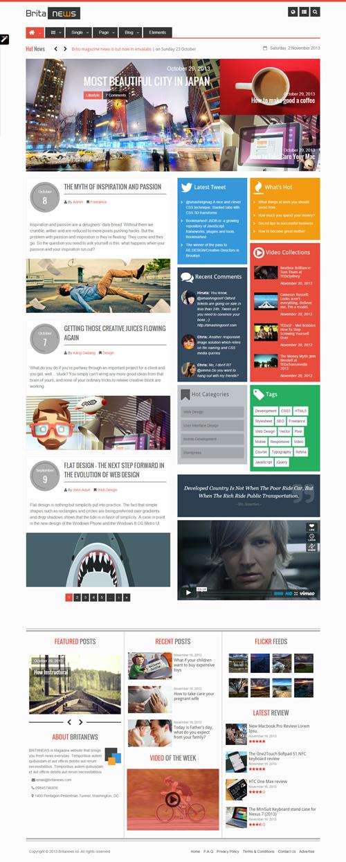 BritaNews - Gorgeous Animated News/Magazine Theme