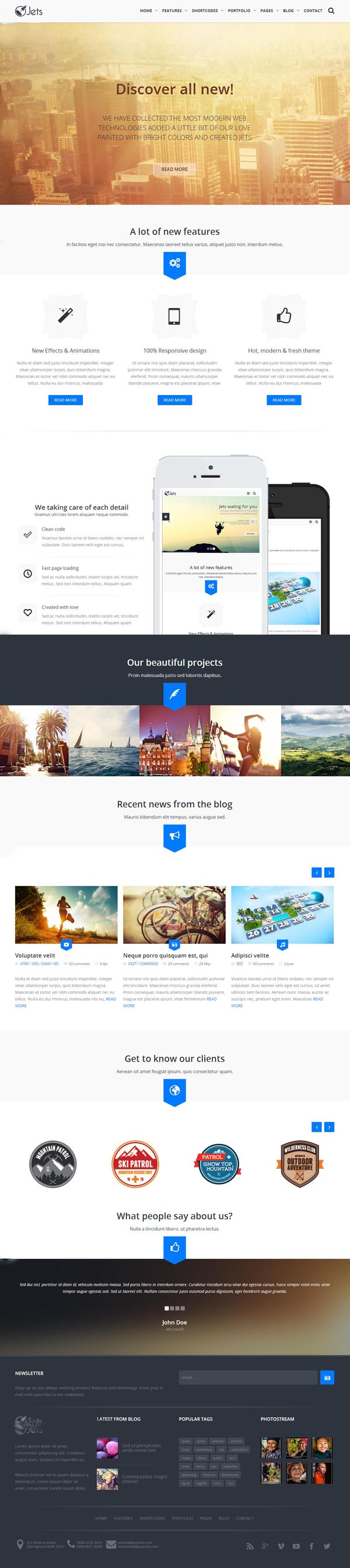 Jets - Responsive HTML5 Template