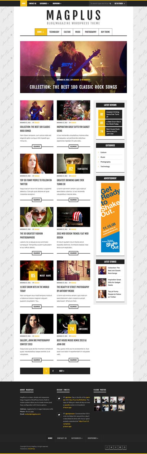 MagPlus - Blog / Magazine WordPress Theme