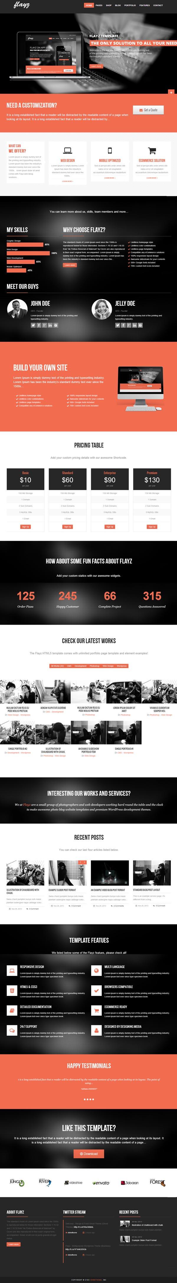 Flayz - Multipurpose WordPress Theme