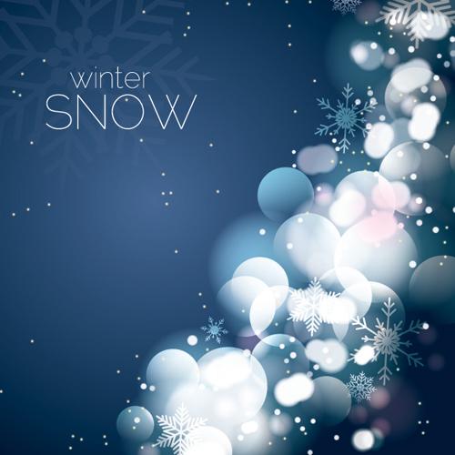 Winter Snow Vector Graphic
