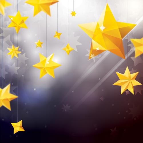 Star Ornaments Vector Graphic