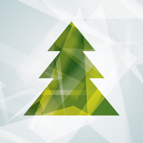Modern Christmas Tree Vector Graphic