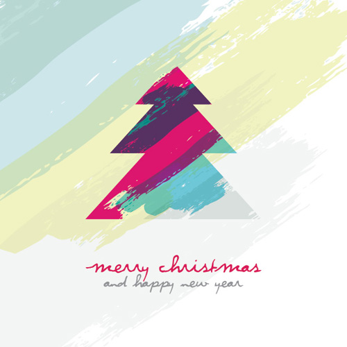 Artistic Christmas Tree Vector Graphic