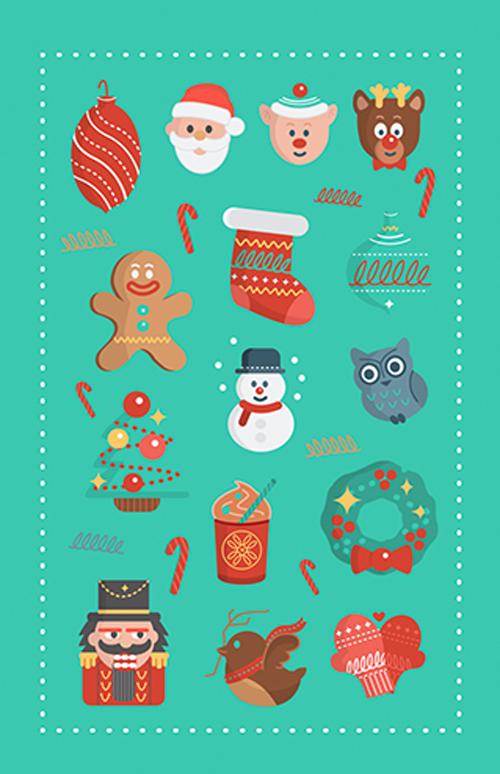 Flat Holiday Icons