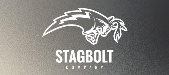 Stagbolt Logo Design