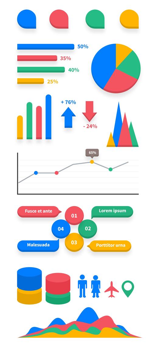 Free Flat Infographic Elements