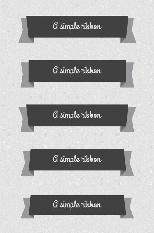 Psd Flat Elegant Ribbons