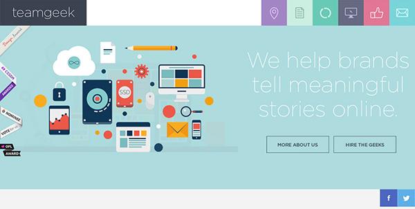 Teamgeek Flat Website Design