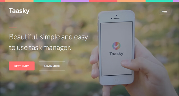 Taasky Flat Website Design