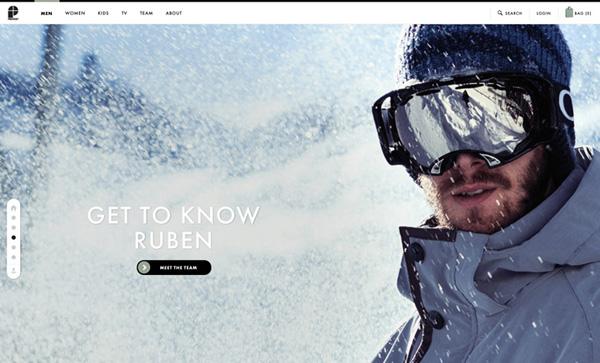 Protest Boardwear Flat Website Design