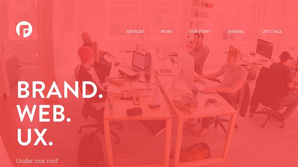 Focus Labs Flat Website Design