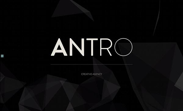 ANTRO Flat Website Design