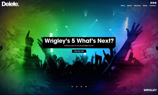 Delete Flat Website Design