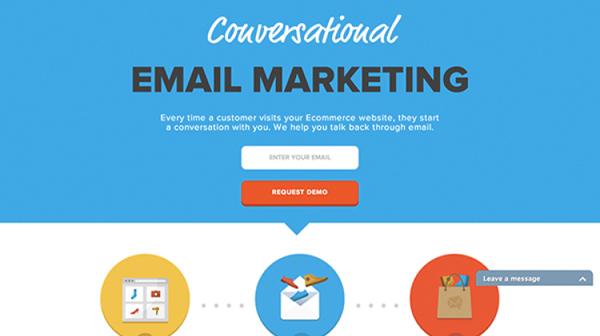Triggermail Flat Website Design