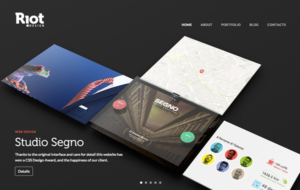 Riot Design Flat Website Design