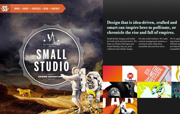 Small Studio Flat Website Design