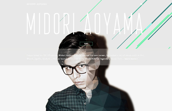 MIDORI AOYAMA Flat Website Design