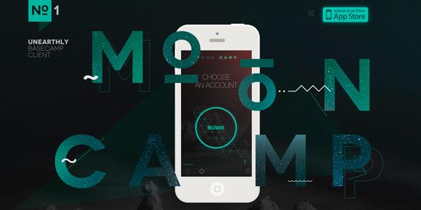 MoonCamp Flat Website Design