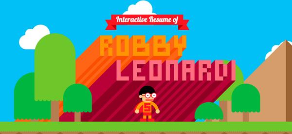 Robby Leonardi Flat Website Design