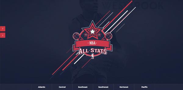 NBAllstats Flat Website Design