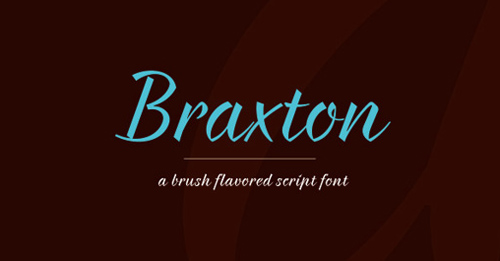 Braxton free fonts of year 2013
