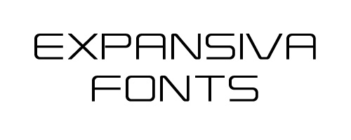 Expansiva free fonts of year 2013