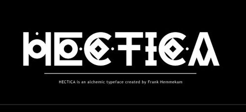 Hectica free fonts of year 2013