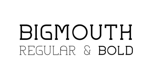 Bigmouth free fonts of year 2013