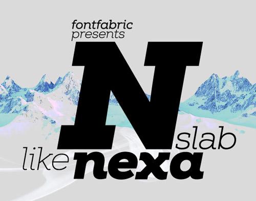 Nexa Slab free fonts of year 2013