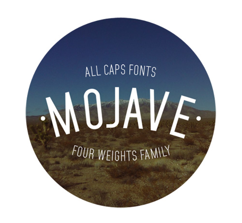 Mojave free fonts of year 2013
