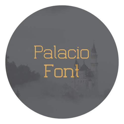 Palacio free fonts of year 2013