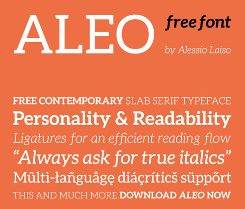 Aleo free fonts of year 2013