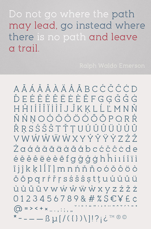 Piron free fonts of year 2013
