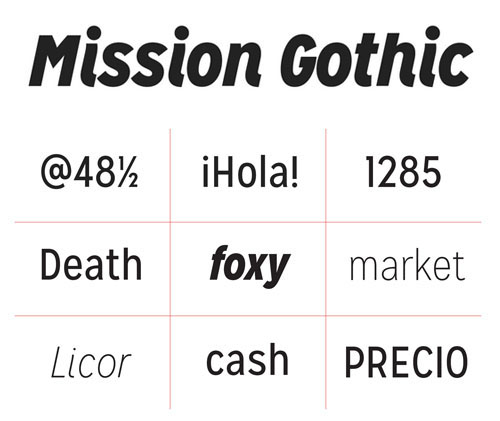 Mission Gothic free fonts of year 2013
