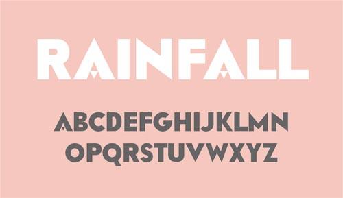 Rainfall free fonts of year 2013